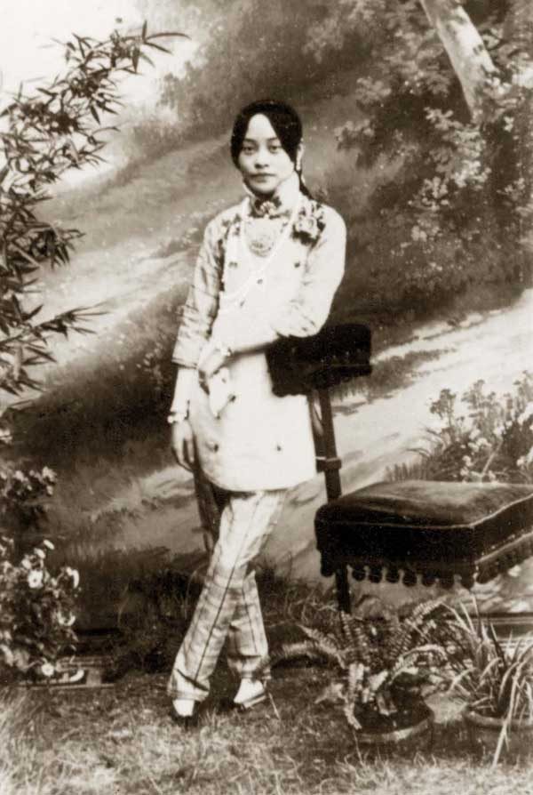 mujer china de pies vendados