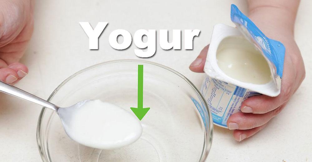 yogur caducado rostro